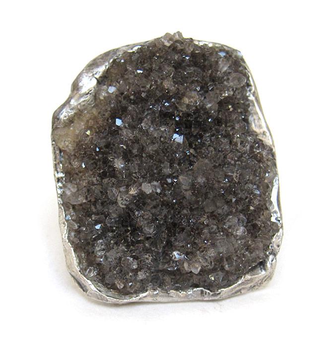 herkimer diamond druzy ring susan ritter