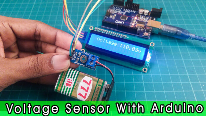 How the voltage sensor module works with Arduino