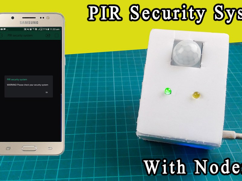 PIR security system with Nodemcu
