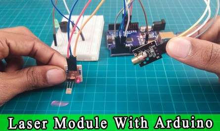 Laser transmitter and receiver module with arduino