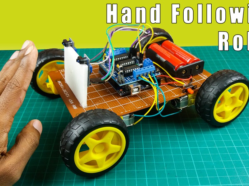 How to make a hand following robot using Arduino