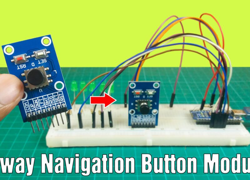How the five-way navigation button module works with the Arduino