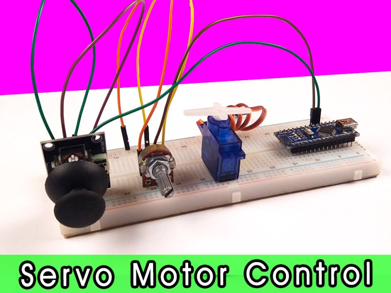 how to control servo motor using potentiometer and joystick module