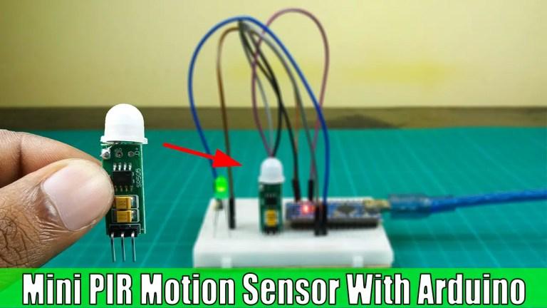 Mini PIR motion sensor with Arduino   HC-SR501