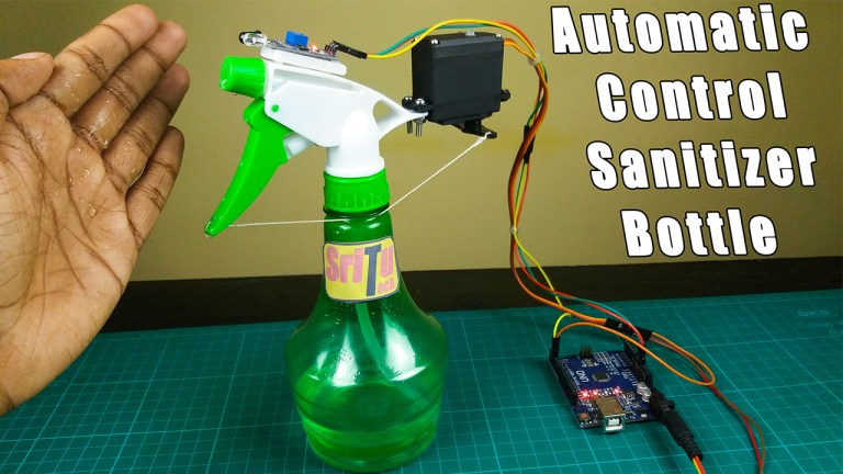 How to make a simple automatic control DIY hand sanitizer bottle using Arduino