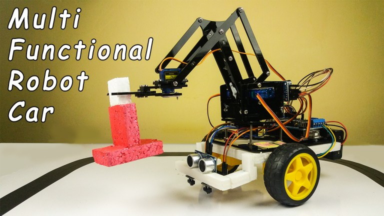 How to make a DIY Multi-functional robot car using Arduino