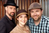 Location Headshot of 3 people wearing hats.