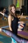 Yoga teacher with Class