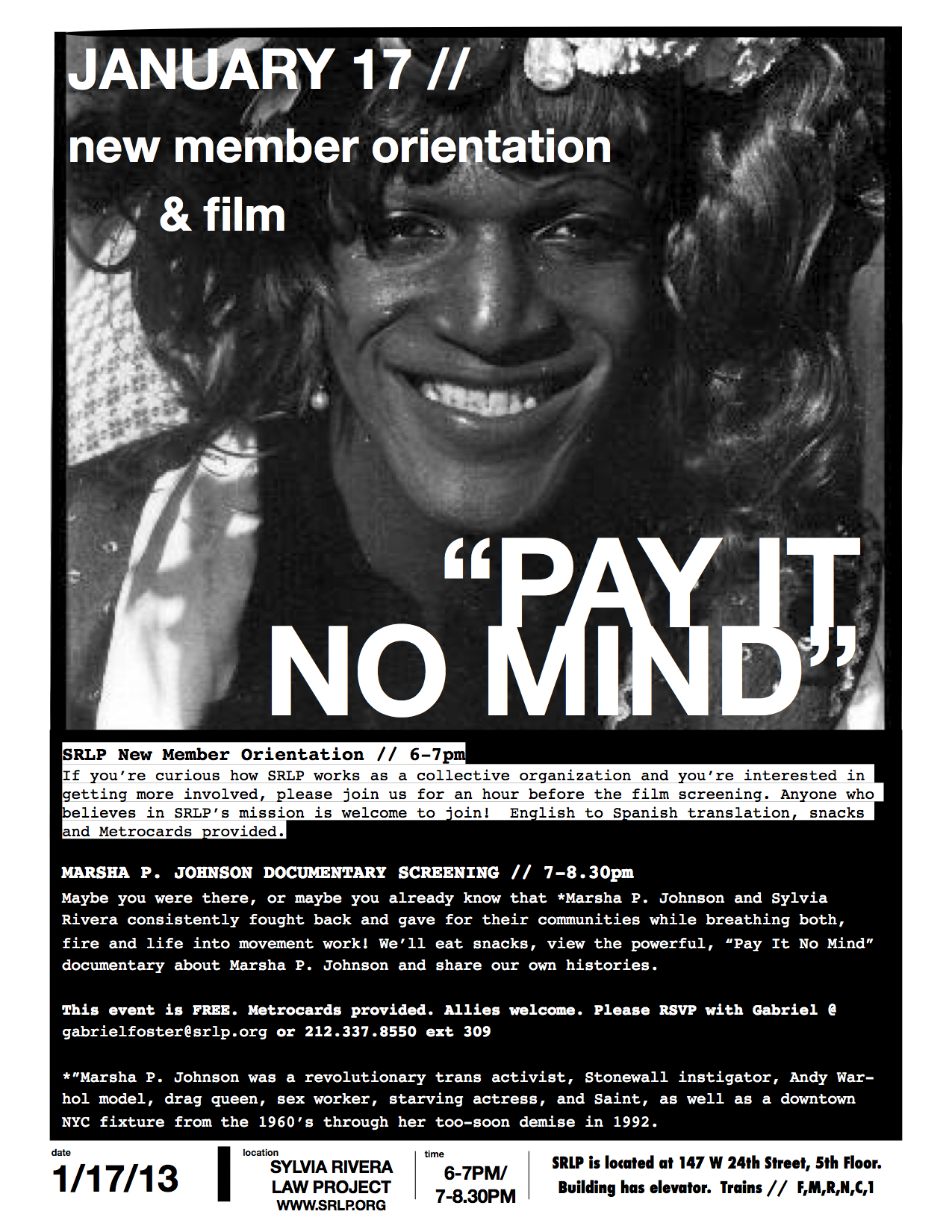 New Member Orientation & Film Flier