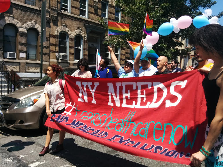 Bushwick Pride Healthcare sign