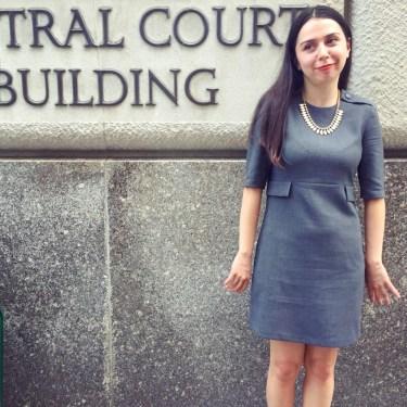 Sophia Gurule showing up for courtroom support