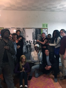 Group photo of SRLP's Movement Building Team strategizing on direct action on HALT Solitary Confinement Day.