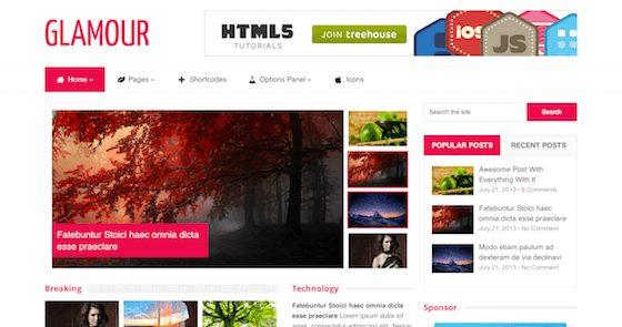 MyThemeShop Glamour WordPress Theme