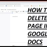 How To Delete A Page In Google Docs