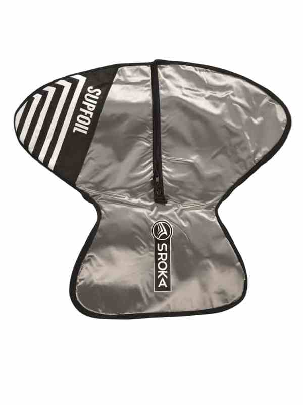 Surf foil and SUP foil protection bag for assembled foil top