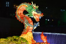 Seoul Lantern festival - the serpent that is said to have brought old Seoul to ruin hundreds of years ago.