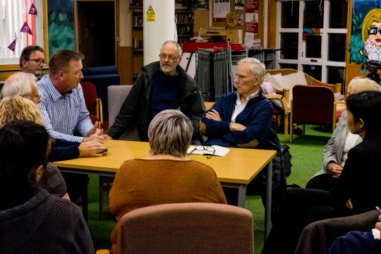 The Special Rapporteur hears from people affected by povety in Newcastle. © Bassam Khawaja 2018