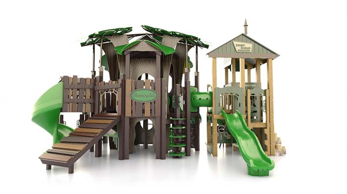 Tree House And Ranger Station Theme Playground Playgrounds