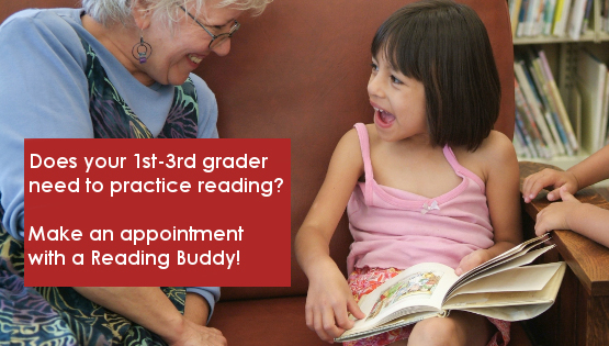 Reading Buddies Appointments Available January 17 - June 3