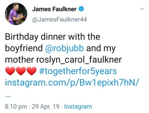 James Faulkner Original Post