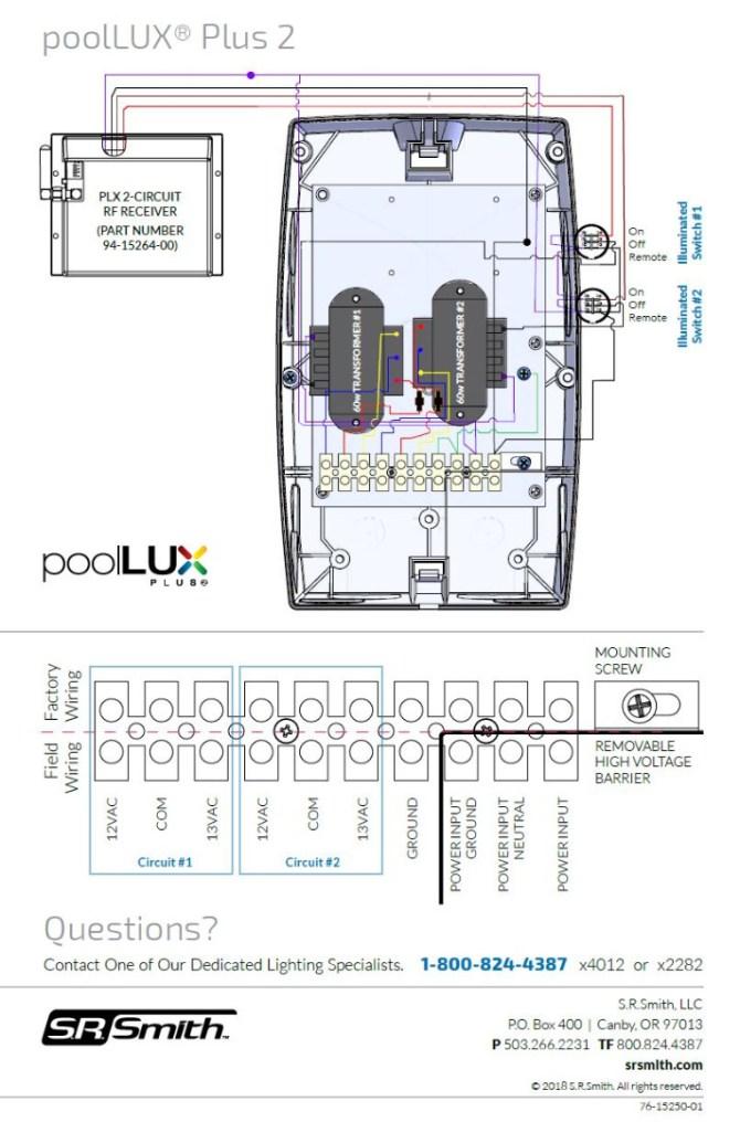 poollux™ plus2 dual transformer  srsmith pool lighting