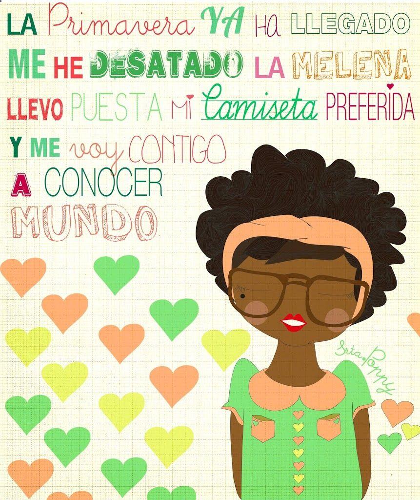 """Camiseta ilustrada Poppy Afro """"Caminando hacia el verano"""""""