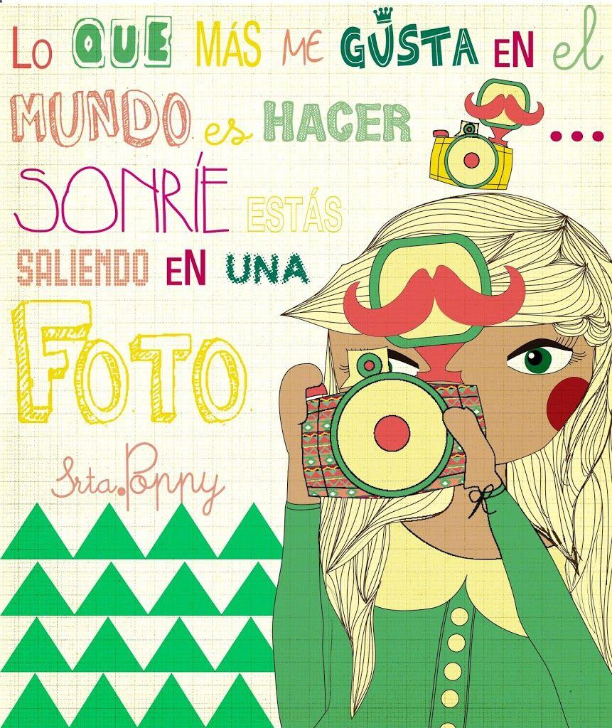 """Camiseta ilustrada Poppy fotógrafa """"Caminando hacia el verano"""""""