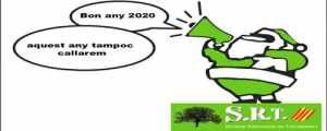 S.R.T. US DESITJA A TOTES I A TOTS UN BON ANY NOU 2020!