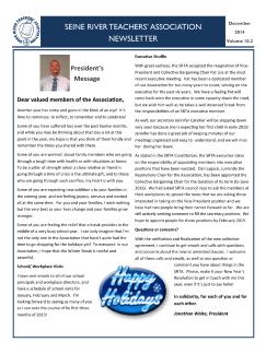 SRTA Newsletter Dec 2014