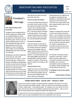 SRTA Newsletter March 2015