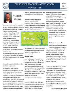 SRTA Newsletter March 2014