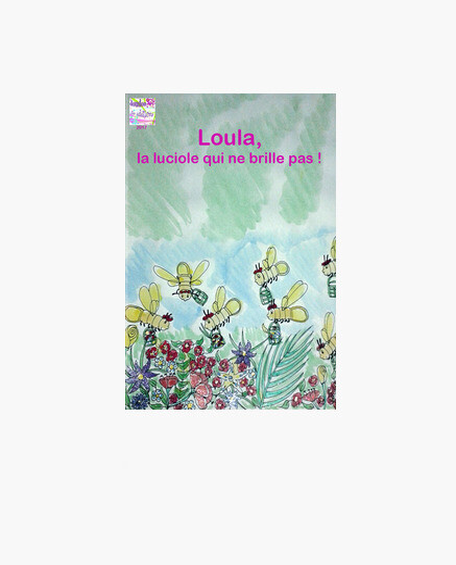 Impression sur toile Loula la luciole :Toile horizontale 3:4 - (30 x 40 cm)
