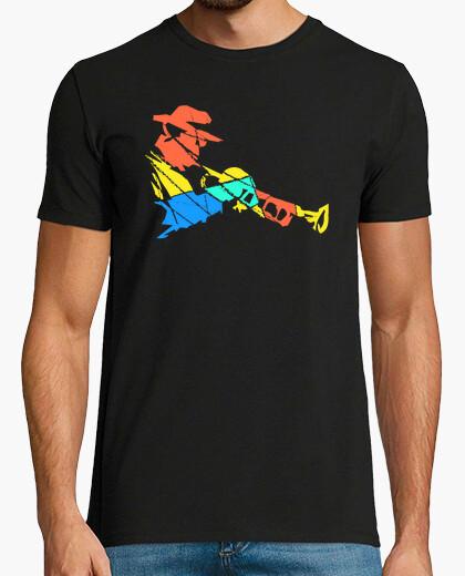 Multicolored Trumpet Player Modern Art t-shirt