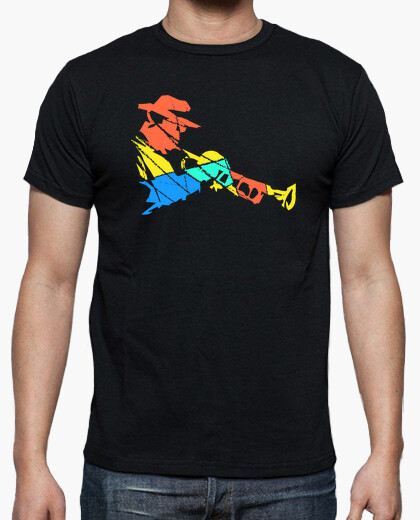 Multicolored Trumpet Player Modern Art t-shirt