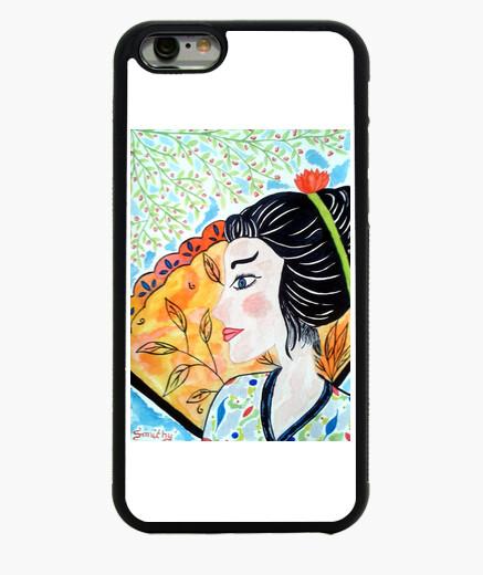 Coque Iphone 6 Portrait Femme en Fleurs Coque Iphone6