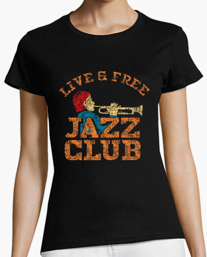 Retro Jazz Club Design t-shirt
