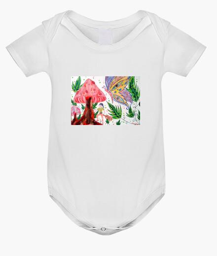 Vêtements enfant Troll Papillon et forêt magique : body blanc