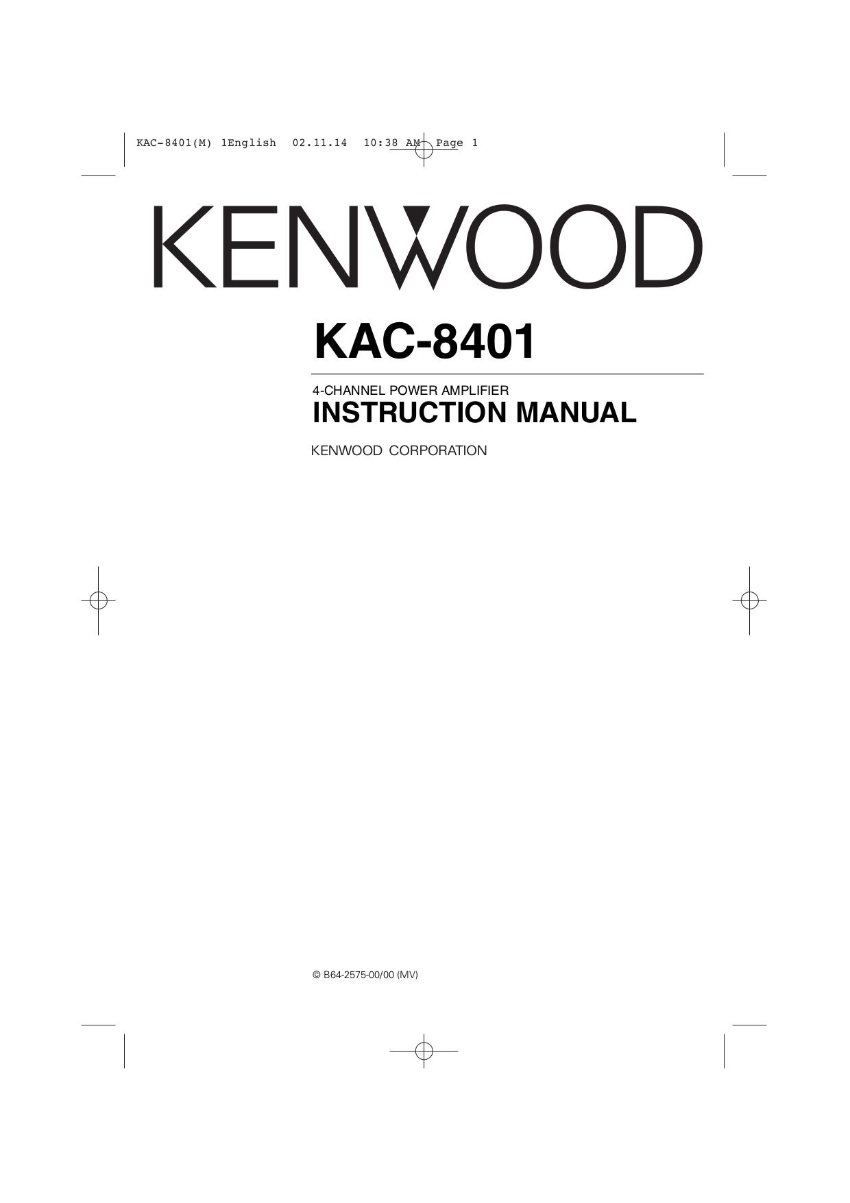 Download Free For Kenwood Kac Car Amplifier Manual