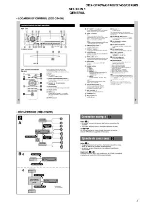 PDF manual for Sony Car Receiver CDXGT450