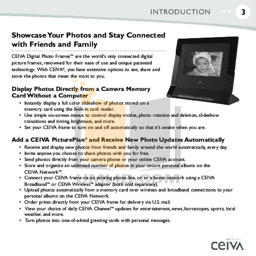 Ceiva Digital Photo Frame Manual   Frameswall.co
