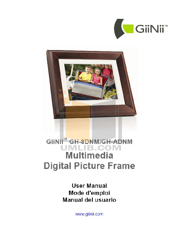 Giinii Digital Picture Frame Manual Gn 818 | Frameide.co