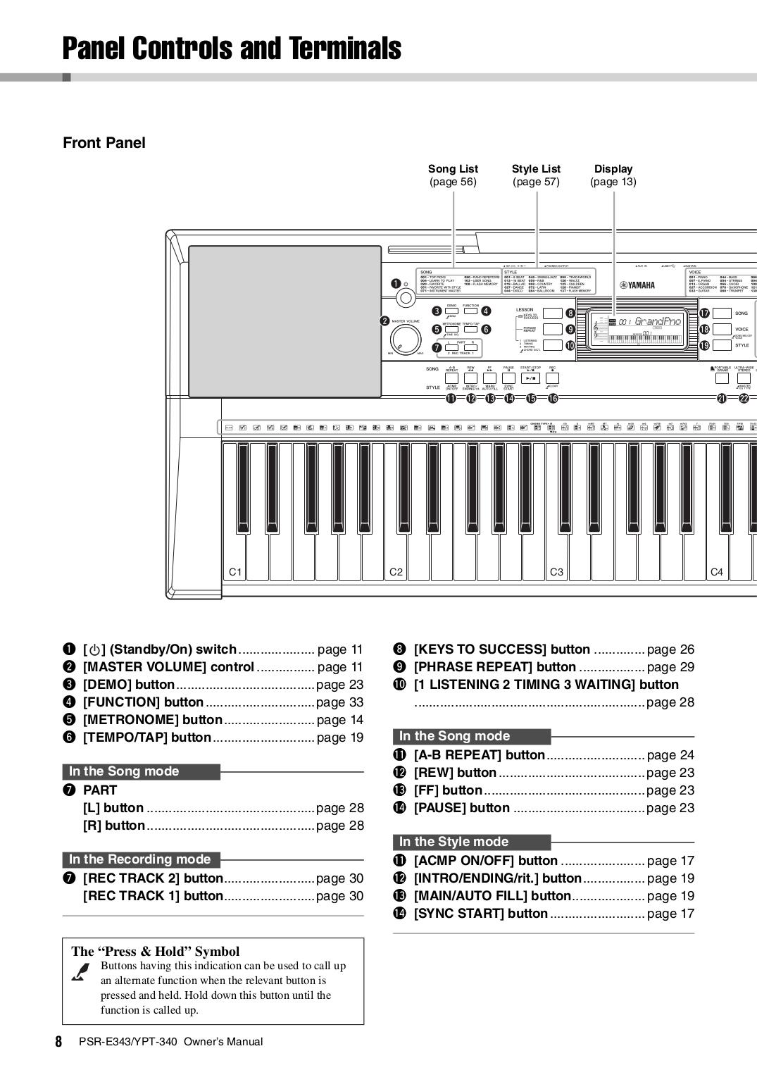 Manual For Yamaha Music Keyboard Psr 340