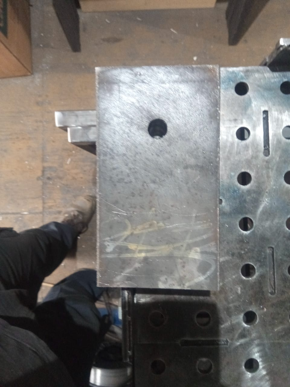 repair an anvil heel block rectangular