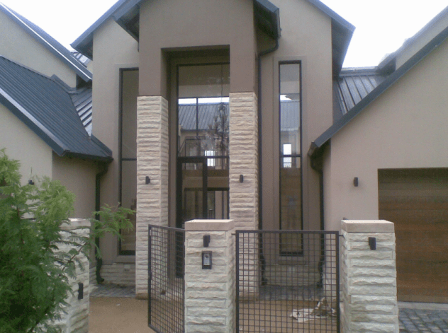 Modern house with aluminium door and window frames