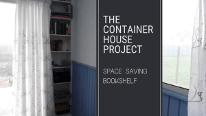 Space Saving Bookshelf