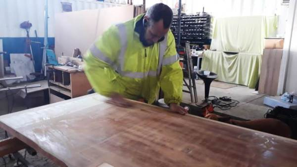 sanding wood by hand