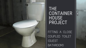 Fitting a Close Coupled Toilet (Guest Bathroom)