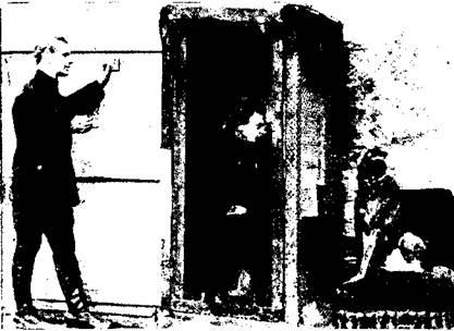 Опыты внушения В. Л. Дурова собаке через изолятор системы инж. Кажинского.