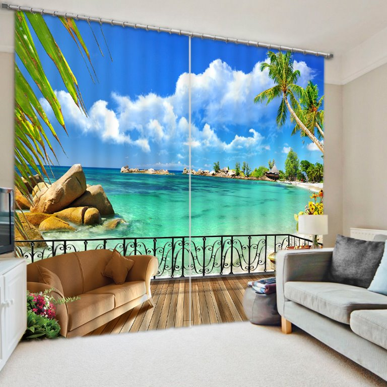classy and fashion 3d scenery curtains