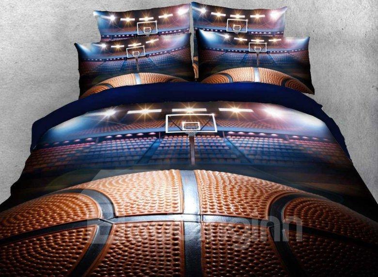Basketball 5 Piece Bedding Set, Twin, Full, Queen, King